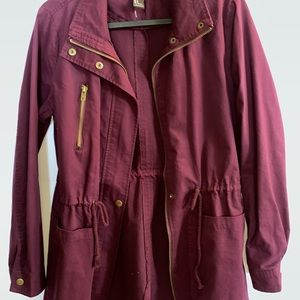 Long coat burgundy
